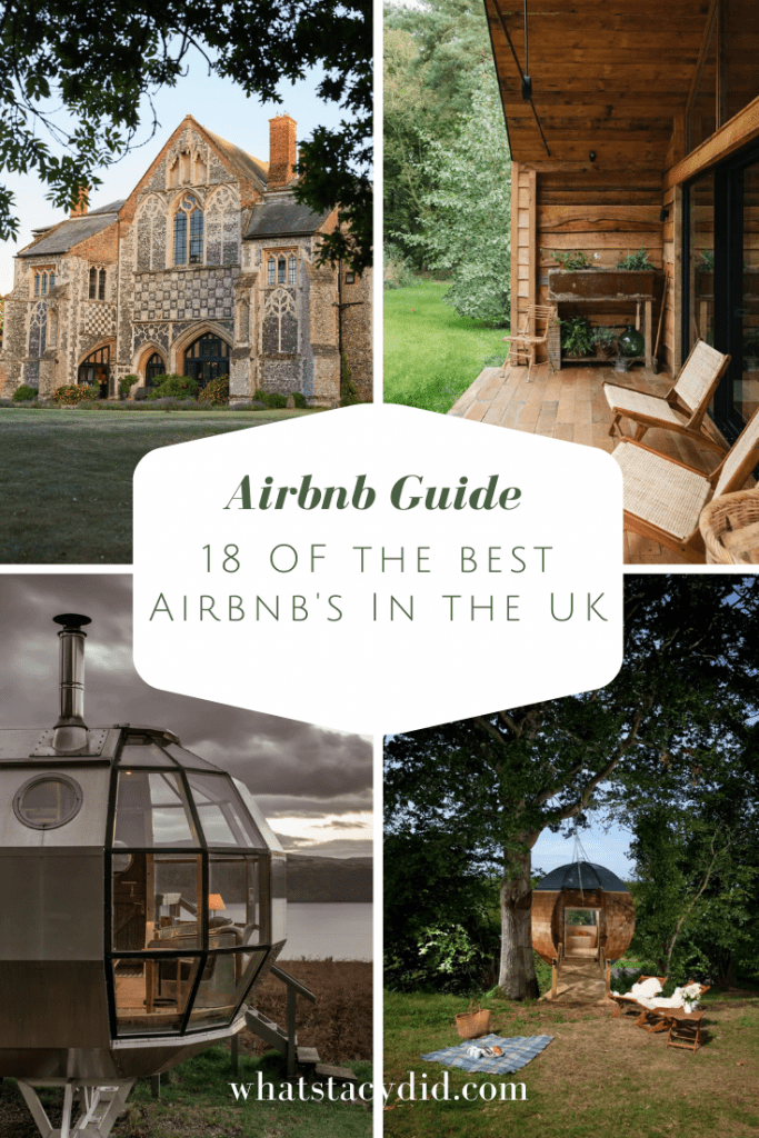 18 Of The Very Best Airbnb UK - When planning my travels, one of the first things I do is research Airbnb's around the place I plan on visiting. The Uk has some incredible Airbnb's ranging from castles, to manor houses, to windmills, to the completely unique! Here are 18 of my dream stays that I consider the best Airbnb's in the UK.